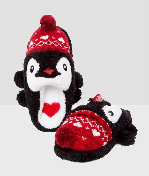 3D penguin slippers