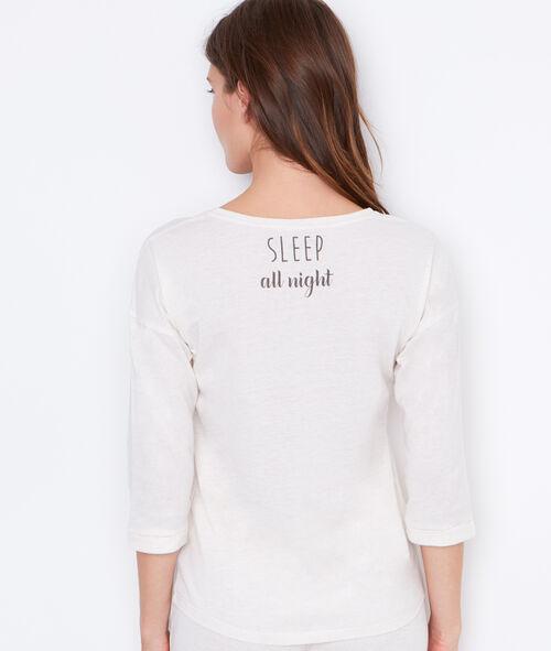 Printed pyjama top;${refinementColor}