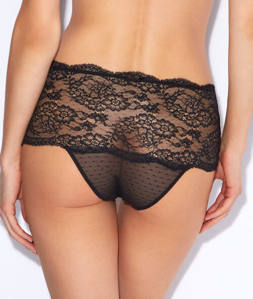 Lace high waisted knickers;${refinementColor}