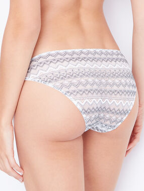 Lace brief grey.