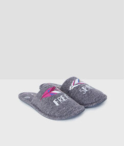 """free spirit"" slippers grey."