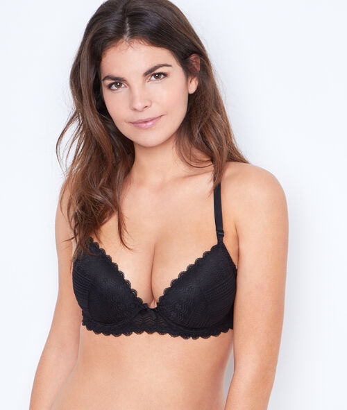 Padded Demi Cup Bra, D Cup;${refinementColor}
