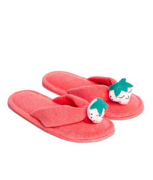 Tongs chaussons fraise
