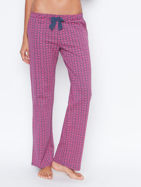 Printed pyjama pants pink.