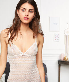 Lace bodysuit white.