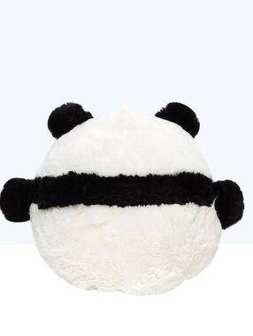 Range pyjama peluche panda noir / blanc.