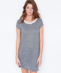 Striped nightdress grey.
