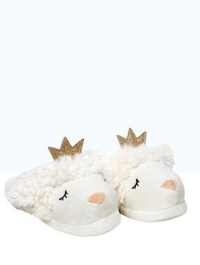 Zapatillas oveja de fantasía crudo.