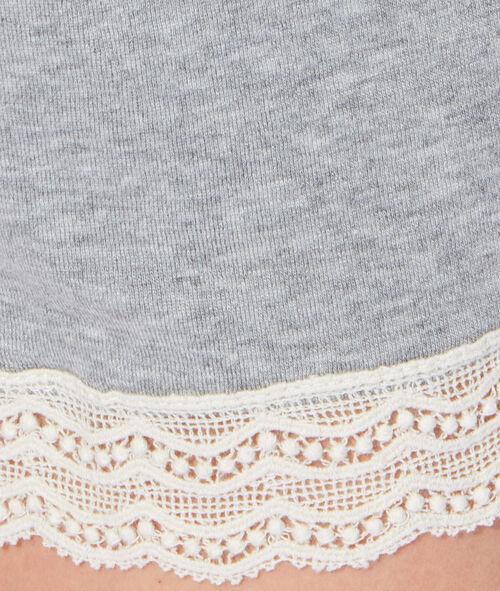 Lace pyjama shorts