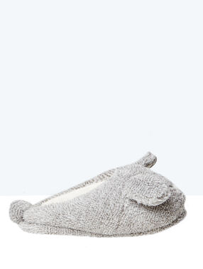 Printed 3d slippers grey.