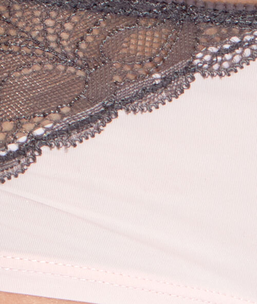 Lace and micro shorts;${refinementColor}