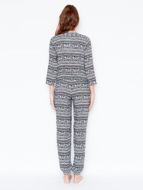 Printed jumpsuit black.