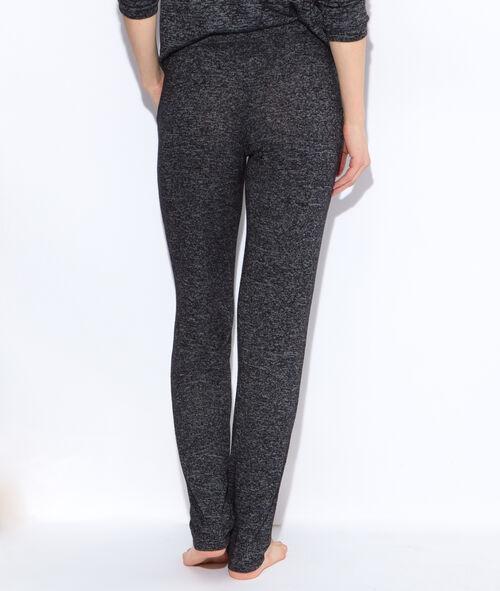 Pantalon façon jogging en maille chiné;${refinementColor}