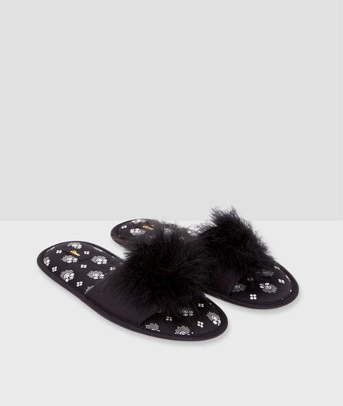 Zapatillas pompón suave