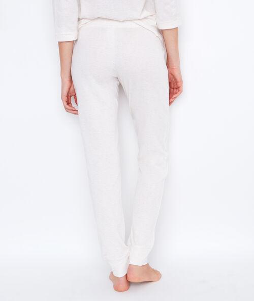 Pantalon uni, imprimé chaton aux genoux;${refinementColor}