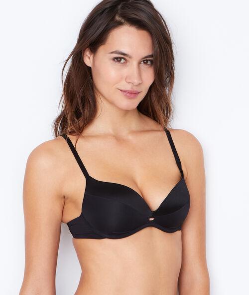 Micro padded demi cup bra;${refinementColor}