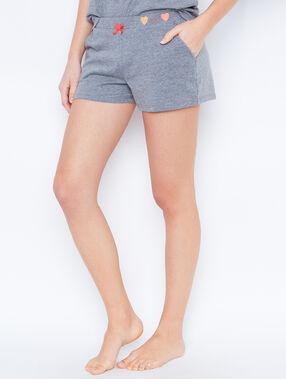 Pyjamashort grau.