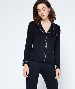 Dwukolorowa koszulka od piżamy noir.