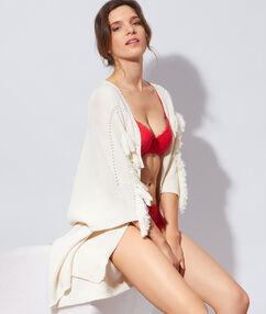 Soft bra: koronkowy klasyczny biustonosz usztywniany z miękkimi fiszbinami rouge.