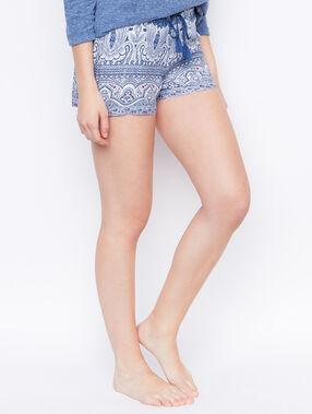 Pantalón corto de cachemira azul.