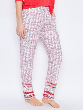 Printed pyjamapants pink.