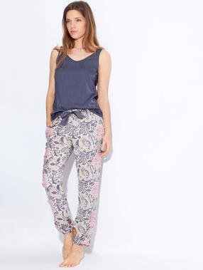 Pantalon imprimé floral multicolore.