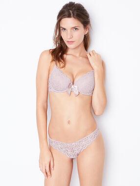 Lace thong pink.