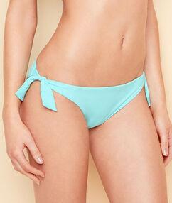 Braguita bikini con broche joya azul.