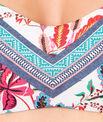 Haut de maillot de bain bandeau imprimé fleurs folk