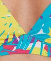 Haut de maillot de bain triangle imprimé armatures souples