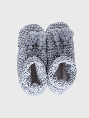 Roma slippers grey.