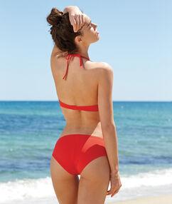 Haut de maillot de bain magic up® tour de cou drapé rouge.