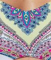 Haut de maillot de bain bandeau imprimé, bretelles amovibles