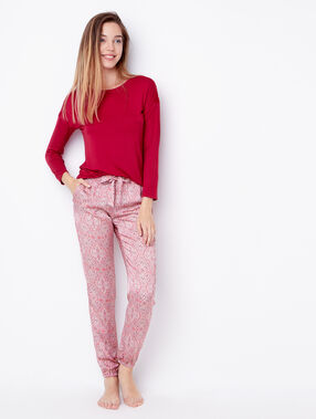 Viscose pyjama top red.