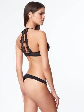 Lace tanga black.