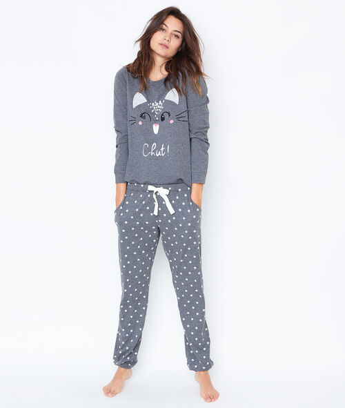 flossie pyjama 3 pi ces pantalon imprim et veste toucher. Black Bedroom Furniture Sets. Home Design Ideas