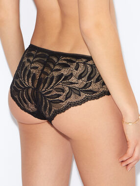 Micro and lace shorts black.