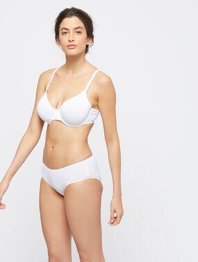 Micro demi cup bra, d cup white.