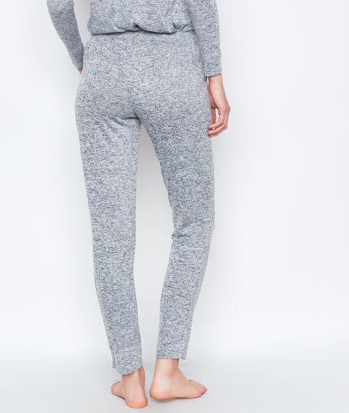 Pantalon homewear maille chinée ultra douce