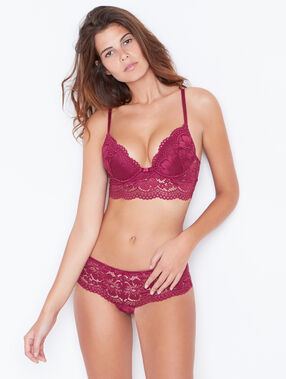 Soutien-gorge n°2 - push up plongeant prune.