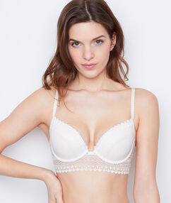 Padded demi cup bra white.