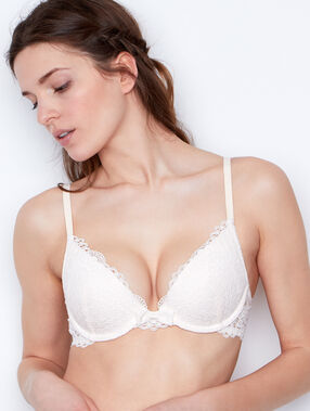 Push-up-bra ecru.