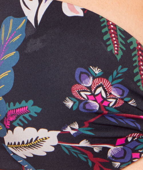 Haut de maillot de bain push up imprimé fleurs folk;${refinementColor}