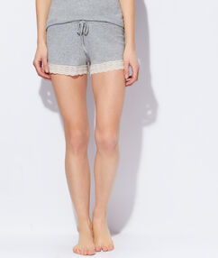 Lace pyjama shorts grey.