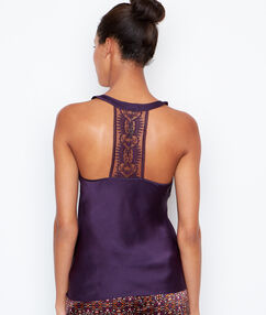 Satine top purple.