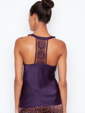 Pyjama oberteile purple.