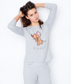 Top imprimé looney tunes gris.