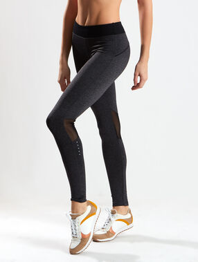 Sculpting straight legging gris anthracite/noir.