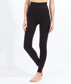 Cotton leggings black.