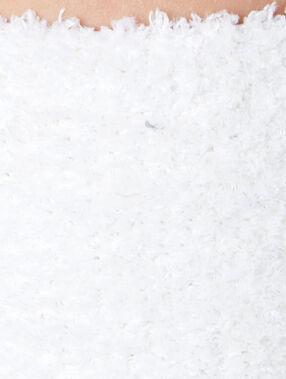 Chaussettes unies épaisses blanc.